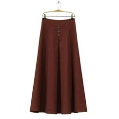 Zen Girl - Buttoned Maxi Skirt