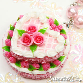 Sweet & Co. - Pink Double Layer Rose Cake Pearl Necklace