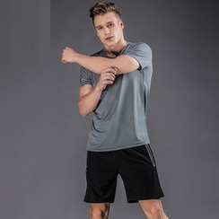 Accentum - Set: Short Sleeve Sports T-Shirt + Sports Shorts
