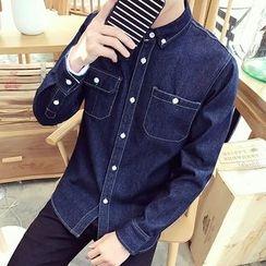 Alvicio - Long-Sleeve Denim Shirt