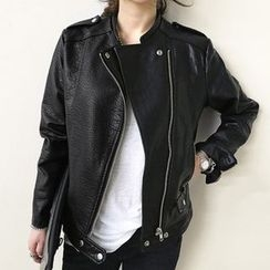 Tulander - Faux Leather Biker Jacket