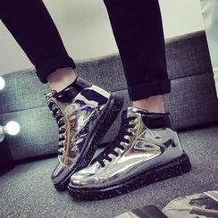 HANO - Patent High-top Sneakers