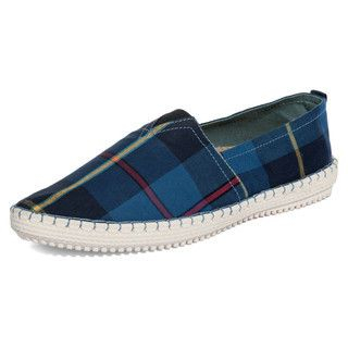 yeswalker - Plaid Canvas Slip-Ons