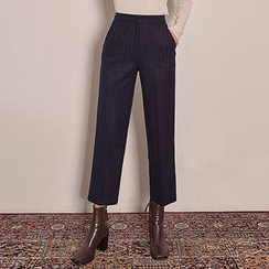 chuu - Pinstripe Straight-Cut Dress Pants