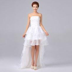Gracia - Strapless Dip-Back Wedding Dress