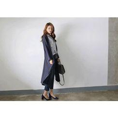 Hello sweety - Open-Front Long Jacket