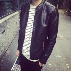 Belinsky - Zip Faux Leather Jacket