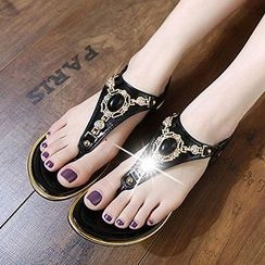 Mancienne - Jeweled Sandals