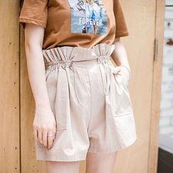 Envy Look - Drawstring-Waist Shorts