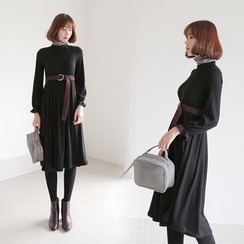 WITH IPUN - A-Line Knit Dress