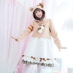 StaRainbow - Mock Two-piece Hooded Dress