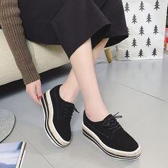 QQ Trend - 厚底系带鞋