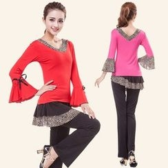 Dancing Queen - Dance Set: Long Sleeve V-Neck Top + Pants
