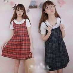 GOGO Girl - Plaid Spaghetti Strap Dress