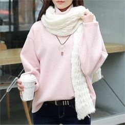 CHICFOX - Turtle-Neck Wide-Sleeve Sweater