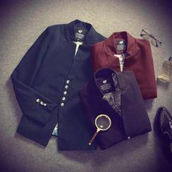 Alvicio - Mandarin Collar Blazer