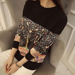 Jiuni - Printed Sweater