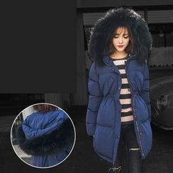 PUFII - Faux-Fur Hooded Jacket