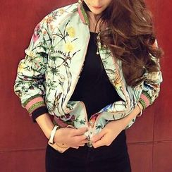 ZAPPA - Floral Print Bomber Jacket