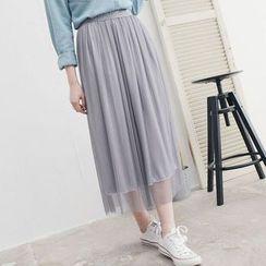 Tokyo Fashion - Pleated Mesh Skirt