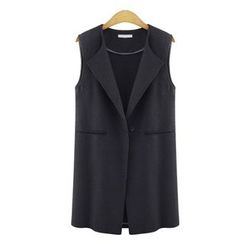 GRACI - Single Button Long Vest