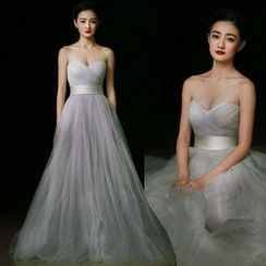 Gracia - Strapless Tulle Evening Gown
