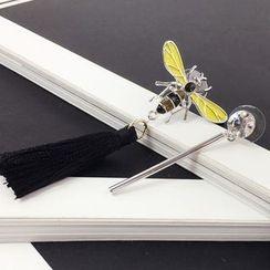 Ciroki - Non-matching Bee Tasseled Earrings