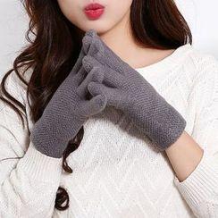 Ciroki - Plain Knit Gloves