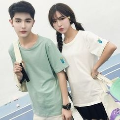Sienne - Couple Matching Short-Sleeve Embroidered T-Shirt