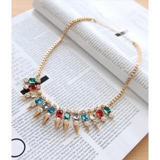 Petit et Belle - Mini Spike and Jewel Necklace