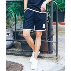 MEOSIDDA - Contrast-Trim Shorts