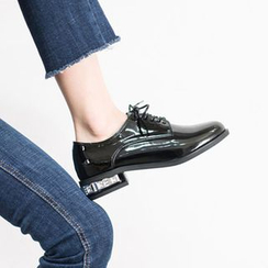 VIVIER - Lace-Up Patent Loafers