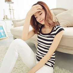 Aegean - Short-Sleeve Striped T-Shirt