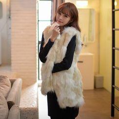 Fluff Snowy - Faux-Fur Vest