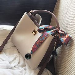 Bagalow - Buckle-Detail Panel Bow-Tied Handbag