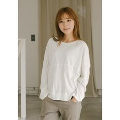 GOROKE - Drop-Shoulder Cotton Pullover