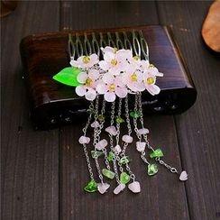 Rivermoon - Flower Beaded Hair Comb