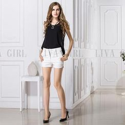 LIVA GIRL - Sleeveless Chiffon Top