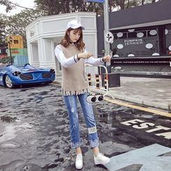 RUI - Distressed Straight-Cut Jeans