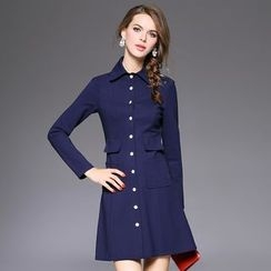 Ozipan - Button Up Coatdress