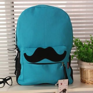 77Queen - Moustache-Accent Backpack