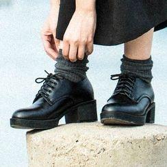 MIAOLV - Block Heel Oxfords
