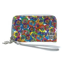Anna Sui - Multicolor Rose Print Coin Purse