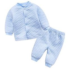 MOM Kiss - Baby Set : Quilted Top + Pants