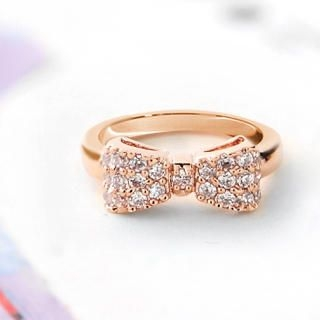 Cuteberry - Rhinestone Bow Ring