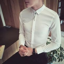 Simsam - Fringed Long-Sleeve Shirt