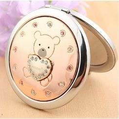 MILESI - Rhinestone Teddy Bear Mirror Duo