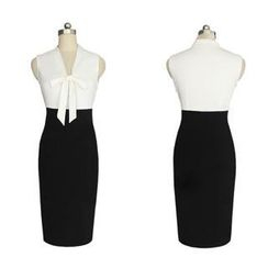 Forest Of Darama - Sleeveless Panel Sheath Dress