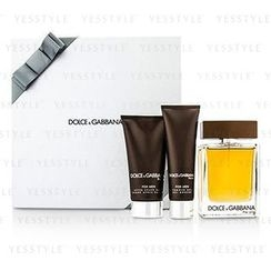 Dolce & Gabbana - The One Coffret: Eau De Toilette Spray 100ml/3.3oz + After Shave Balm 75ml/2.5oz + Shower Gel 50ml/1.6oz (Silver Box)