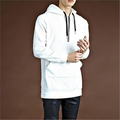 THE COVER - Half Zip-Up Hoodie T-Shirt